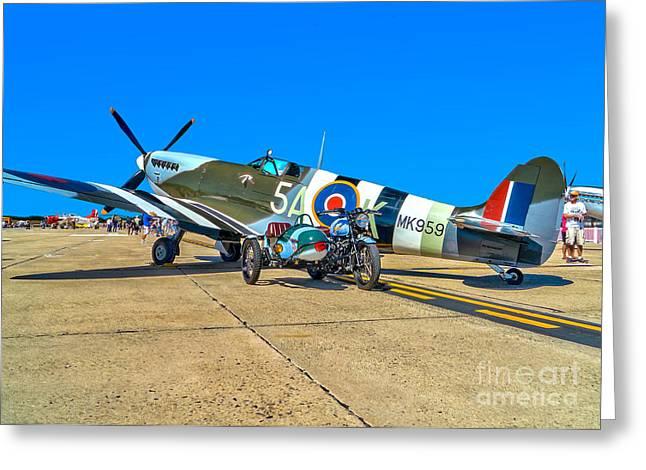 Supermarine Mk959 Spitfire Greeting Card by Nick Zelinsky