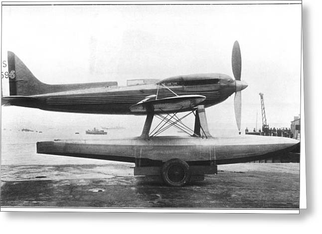 Supermarine S.6b Aircraft Greeting Card by Science Photo Library