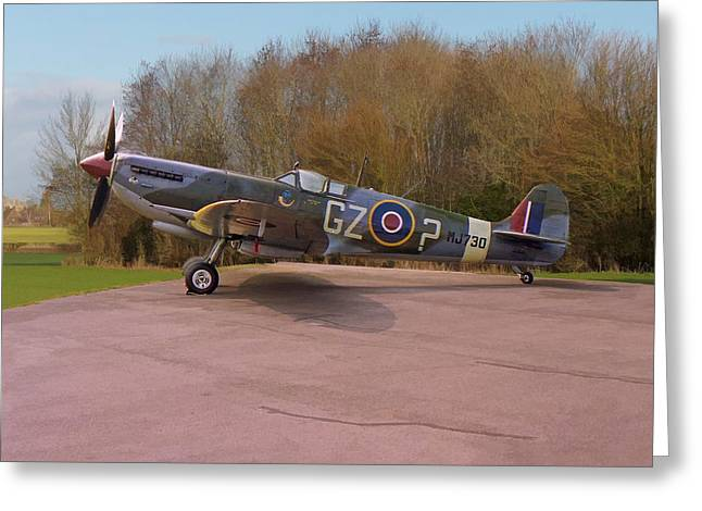 Greeting Card featuring the photograph Supermarine Spitfire Hf Mk. Ixe Mj730 by Paul Gulliver