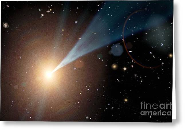 Supermassive Black Hole, Artwork Greeting Card by Nasa