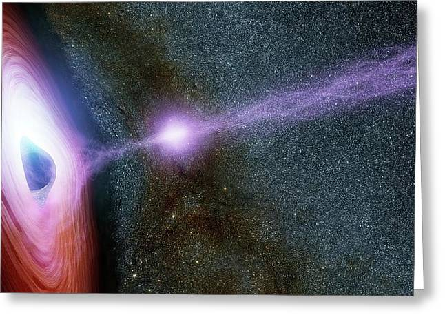 Supermassive Black Hole Corona Greeting Card by Nasa/jpl-caltech