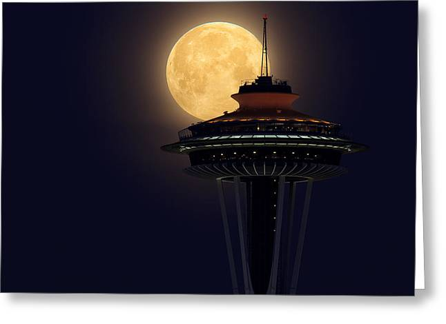 Supermoon 2012 Greeting Card by Quynh Ton