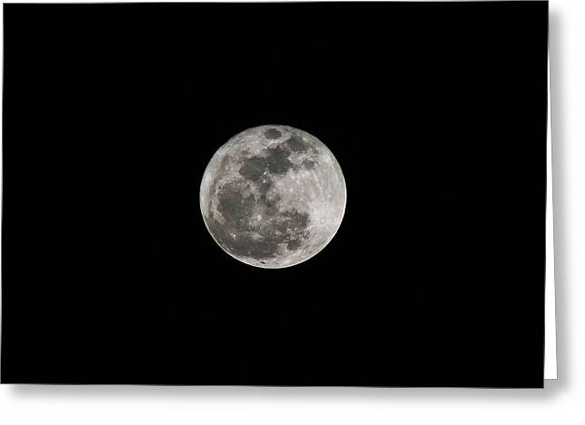 Supermoon 2013 Greeting Card by Kelly Howe