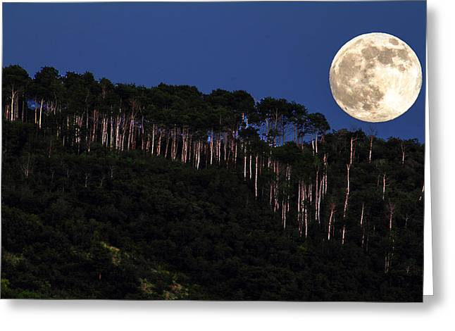 Supermoon Over Moon Hill Greeting Card