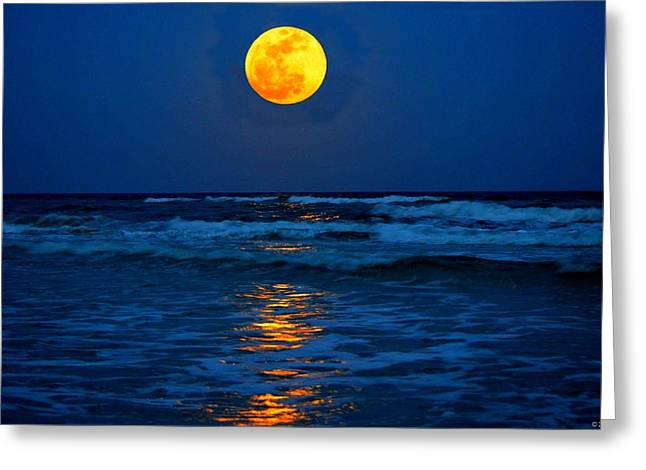 Supermoon Rising On Navarre Beach 20120505c Greeting Card