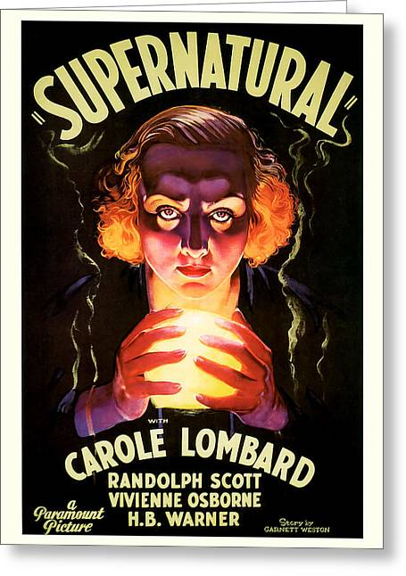 Supernatural 1933 Greeting Card by Presented By American Classic Art