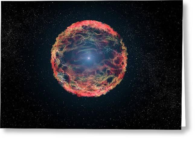 Supernova 1993j Greeting Card by Nasa, Esa, G. Bacon