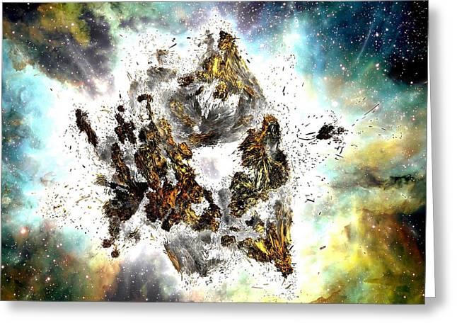 Supernova Greeting Card by Bernard MICHEL