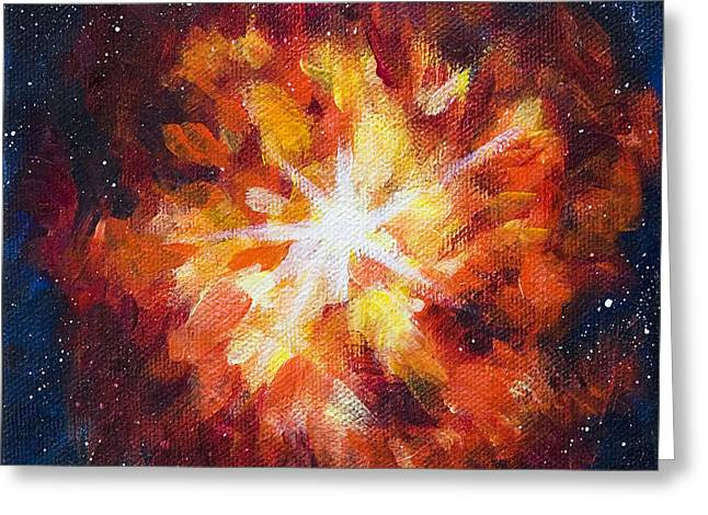 Supernova Explosion Greeting Card