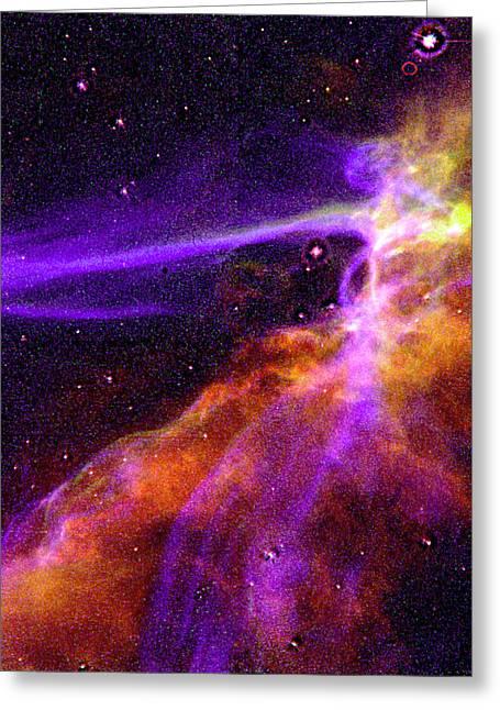 Supernova In Cygnus Greeting Card by Absinthe Art By Michelle LeAnn Scott