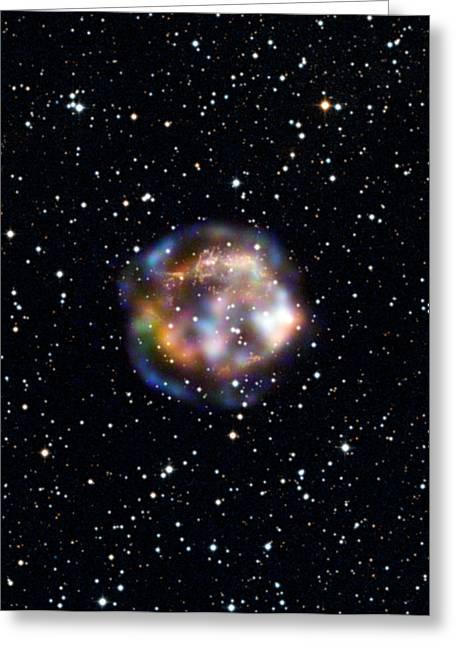 Supernova Remnant Cassiopeia Greeting Card