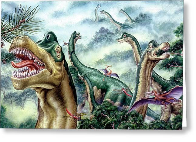Supersaurus Dinosaurs Greeting Card by Deagostini/uig