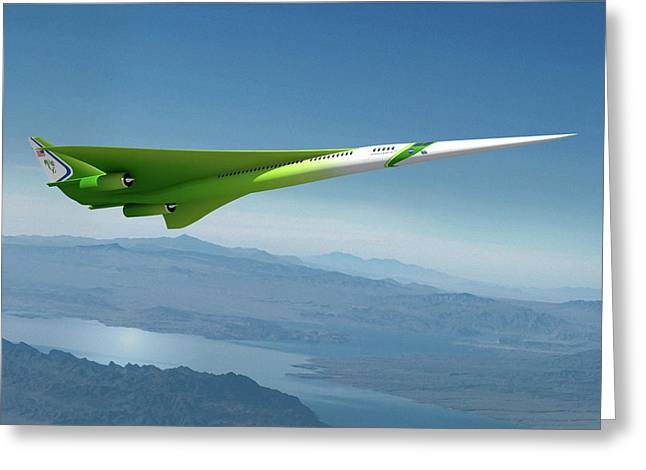 Supersonic Plane Concept Greeting Card by Nasa/lockheed Martin