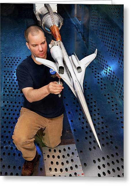 Supersonic Plane Concept Testing Greeting Card by Nasa/quentin Schwinn