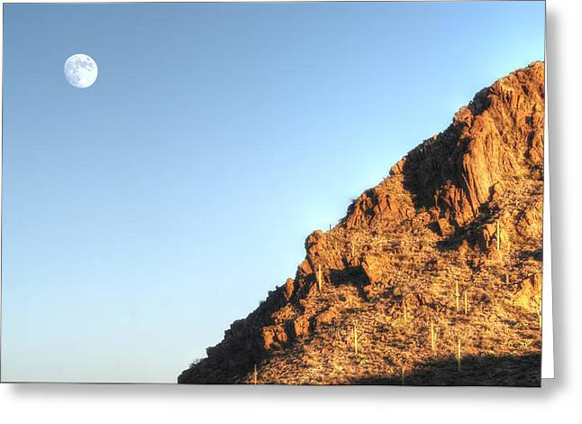 Greeting Card featuring the photograph Superstition Mountain by Lynn Geoffroy