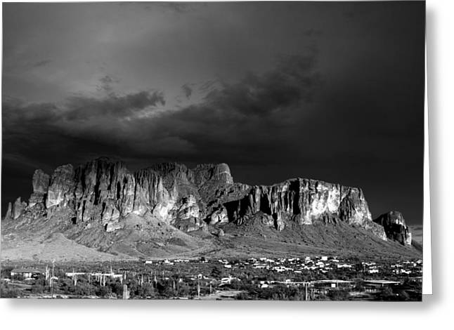Superstition Mountain Greeting Card by Maxwell Amaro