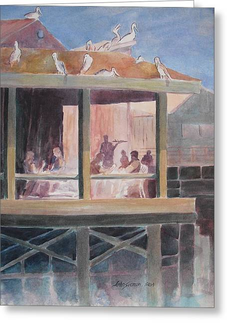 Greeting Card featuring the painting Supper Time by John  Svenson