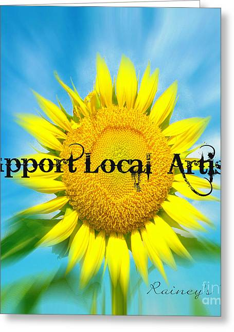 Support Local Artists Greeting Card by Lorraine Heath
