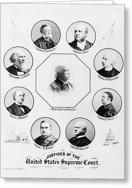 Supreme Court, 1896 Greeting Card by Granger