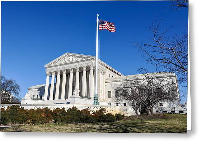 Supreme Court Of The United States In The Winter Greeting Card by Brandon Bourdages