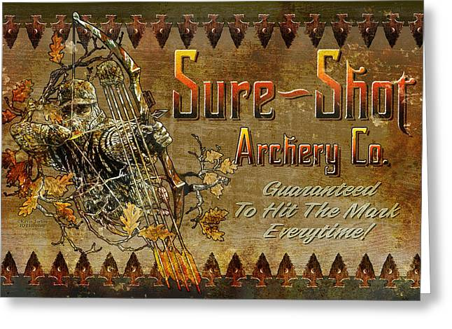 Sure Shot Archery Greeting Card