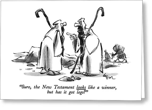 Sure, The New Testament Looks Like A Winner, But Greeting Card by Lee Lorenz
