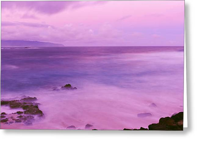 Surf Along Rocky Coast, Oahu, Hawaii Greeting Card by Panoramic Images