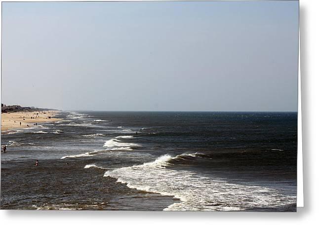 Surf And Sand Greeting Card by Carolyn Ricks