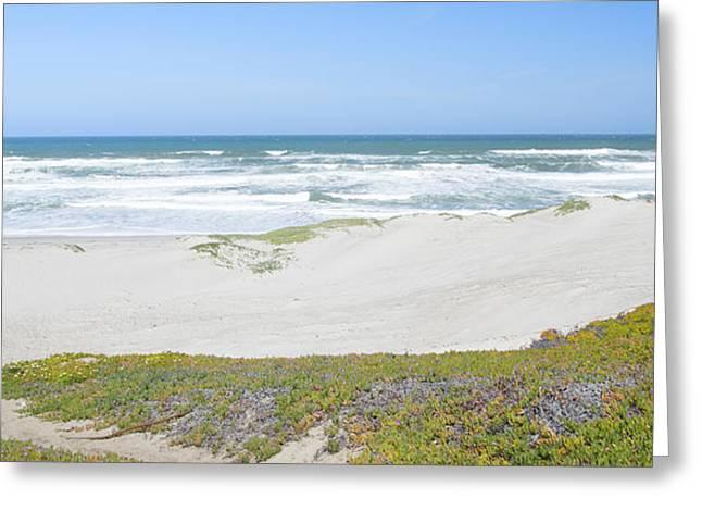 Surf Beach Lompoc California 4 Greeting Card by Barbara Snyder