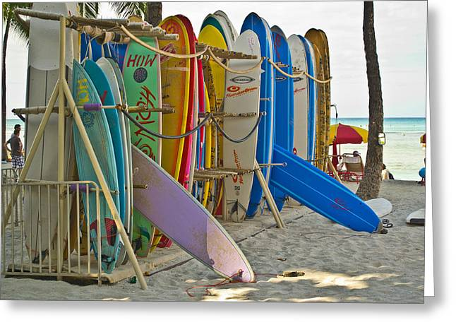 Surf Boards Greeting Card