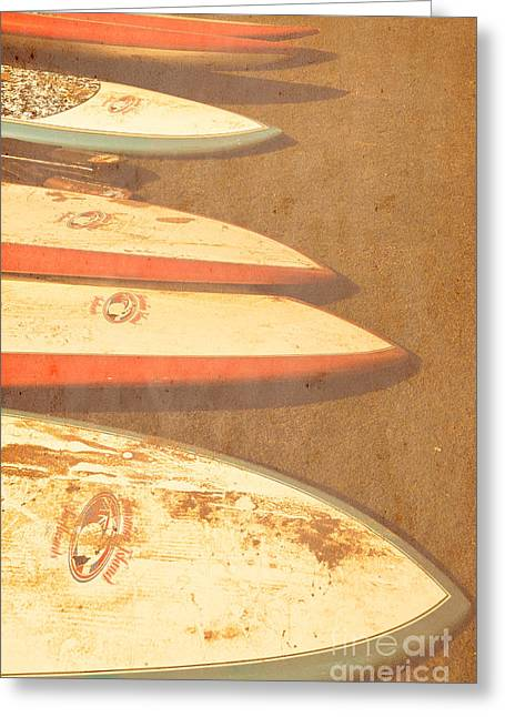 Surf Boards On Beach Greeting Card