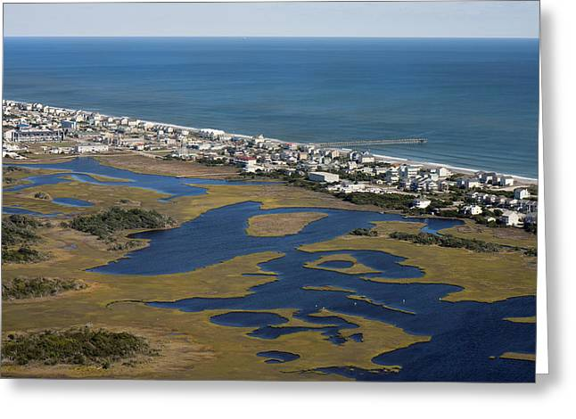 Surf City North Carolina Aerial Greeting Card