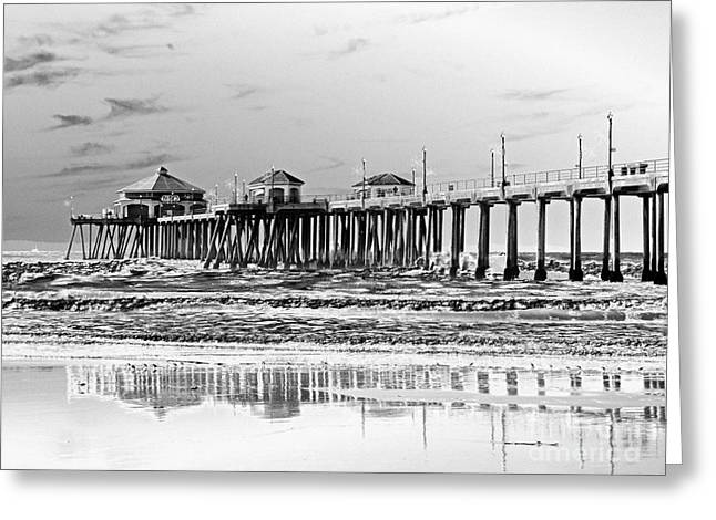 Surf City U S A  Greeting Card