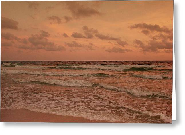 Surf - Florida Greeting Card by Sandy Keeton