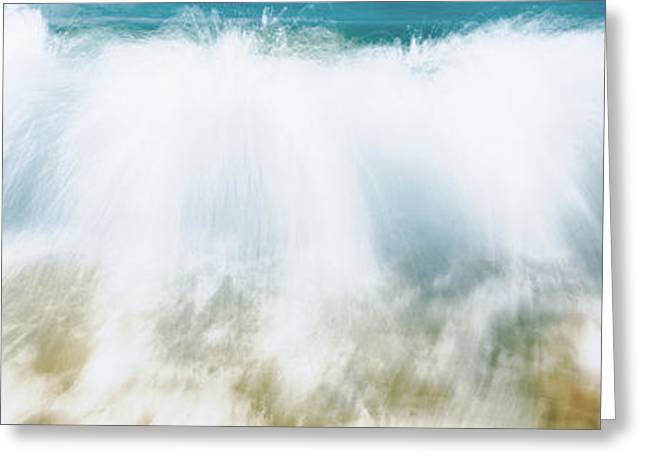Surf Fountains Big Makena Beach Maui Hi Greeting Card by Panoramic Images