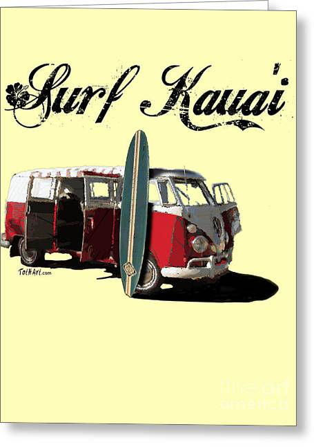 Surf Kauai Greeting Card