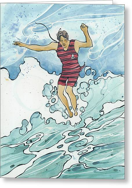 Surf Leap Greeting Card