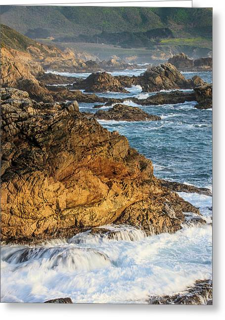 Surf Moves On Rock Greeting Card by Tom Norring