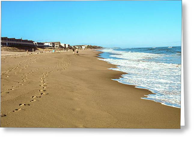 Surf On The Beach, Montauk Point Greeting Card by Panoramic Images