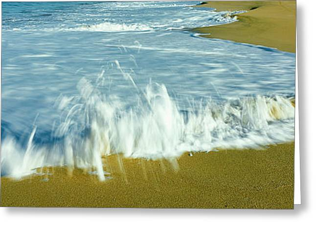 Surf On The Beach, Playa La Cachora Greeting Card by Panoramic Images