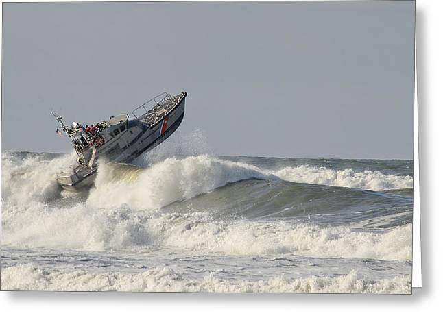 Surf Rescue Boat Greeting Card