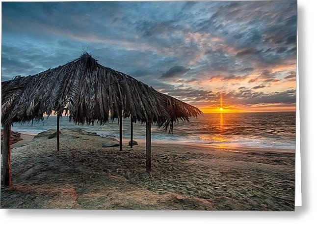 Surf Shack Sunset - Lrg Print Greeting Card