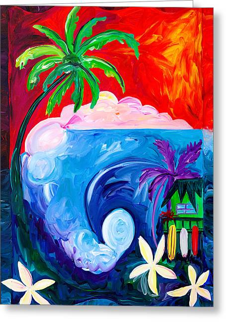 Surf Spot Greeting Card by Beth Cooper