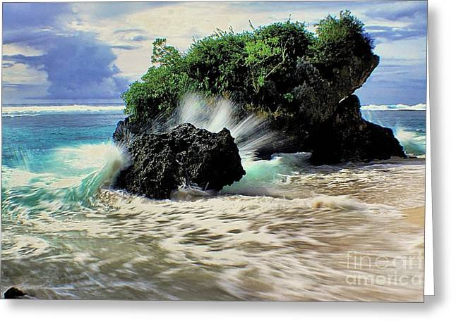 Surf Spray Greeting Card