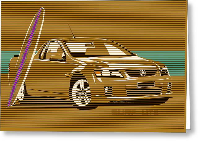 Surf Ute Greeting Card by MOTORVATE STUDIO Colin Tresadern