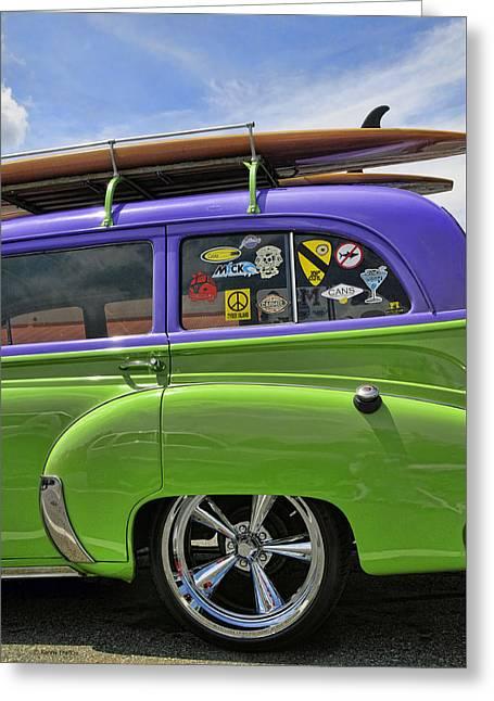 Surf Wagon Greeting Card by Kenny Francis