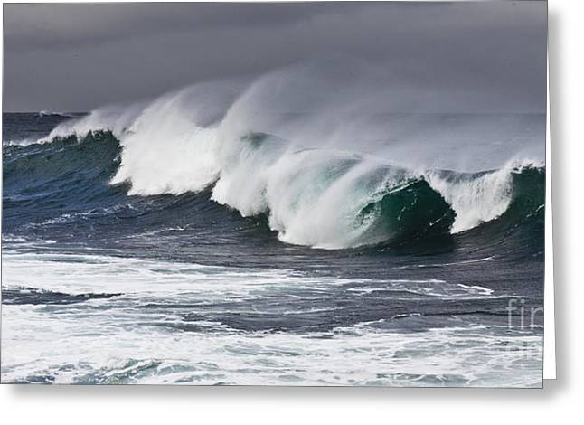 Surf Zone At The Barents Sea Coast Greeting Card by Heiko Koehrer-Wagner