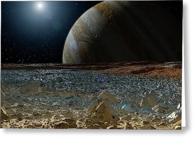 Surface Of Europa Greeting Card
