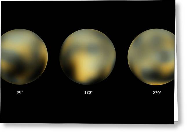 Surface Of Pluto Greeting Card by Nasa/esa/stsci