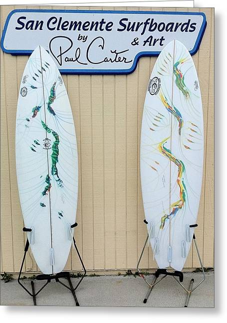 Surfboards In San Clemente Greeting Card